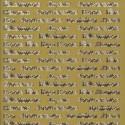 Autocollant Textes Evènements doré Starform 507