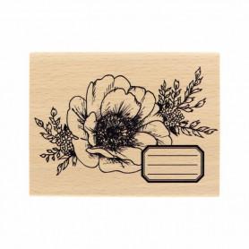 Tampon bois Fleur journaling - Histoire naturelle - Florilèges Design
