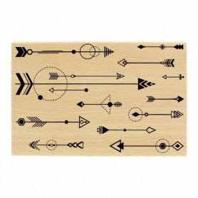 Tampon bois Fantaisie de flèches - Histoire naturelle - Florilèges Design