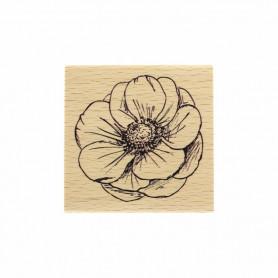 Tampon bois Fleur esquissée - Histoire naturelle - Florilèges Design