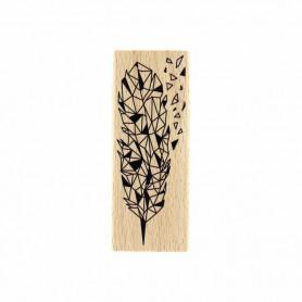 Tampon bois Eclat de plume - Envolée Poétique - Florilèges Design