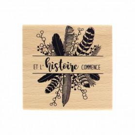 Tampon bois L'histoire commence - Envolée Poétique - Florilèges Design