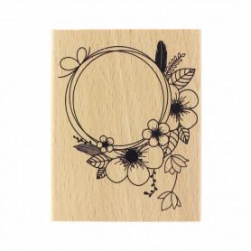 Tampon bois Jolie Couronne - Envolée Poétique - Florilèges Design