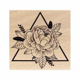 Tampon bois Triangle Floral - Envolée Poétique - Florilèges Design