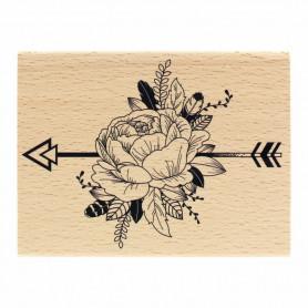 Tampon bois Pivoine Ethnique - Envolée Poétique - Florilèges Design