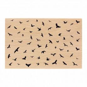 Tampon bois L'envol - Envolée Poétique - Florilèges Design