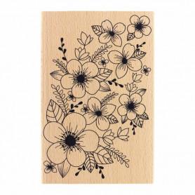 Tampon bois Fond floral - Envolée Poétique - Florilèges Design