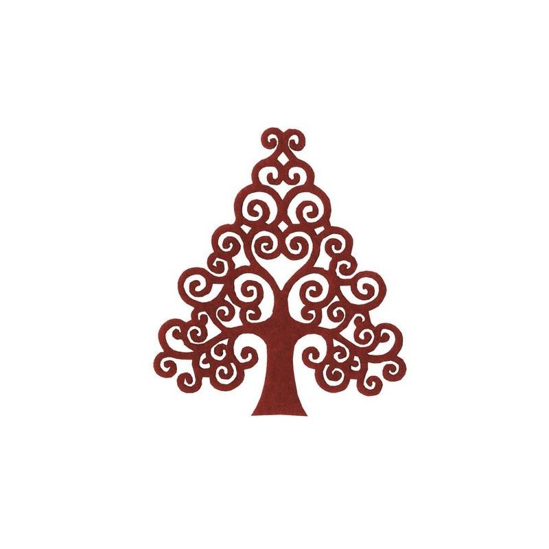 Sapin de Noël en Feutrine Rouge - 4 pièces – Artemio