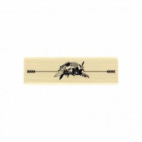 Tampon bois Fleurs fléchées - La vie est belle - Florilèges Design