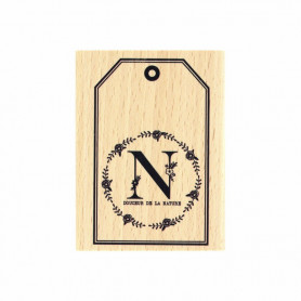 Tampon bois Douceur de la nature - La vie est belle - Florilèges Design