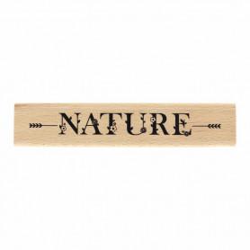 Tampon bois Nature en fleurs - La vie est belle - Florilèges Design