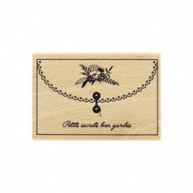 Tampon bois Petits secrets bien gardés - La vie est belle - Florilèges Design