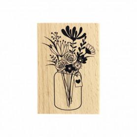 Tampon bois Grand bouquet - La vie est belle - Florilèges Design
