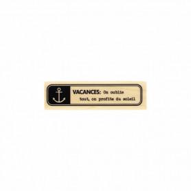 Tampon bois Etiquette marine - Evasion estivale - Florilèges Design