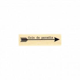 Tampon bois Flèche au paradis - Evasion estivale - Florilèges Design