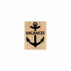Tampon bois Vacances marine - Evasion estivale - Florilèges Design