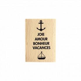 Tampon bois S'évader - Evasion estivale - Florilèges Design
