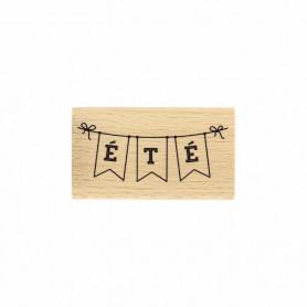 Tampon bois Banderolle été - Evasion estivale - Florilèges Design