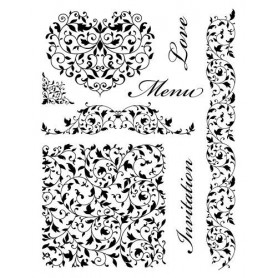 Tampons Volutes- Menu Love Invitation - Artemio