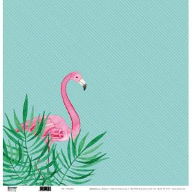 Papier 30x30 Flamants Roses 1f - Artemio
