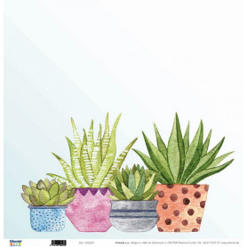 Papier 30x30 Plantes grasses 1f - Artemio