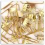 15 maxi trombones + 15 mini pinces-clip - Or - Toga