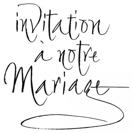 Tampon bois Invitation à notre mariage – Artemio