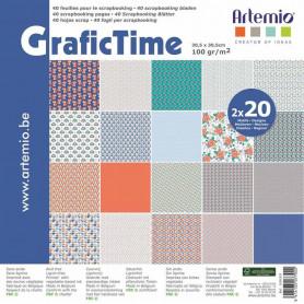 Set de papier 30x30 GraficTime – Artemio