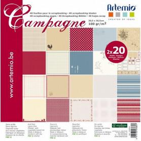 Set de papier 30x30 Campagne – Artemio