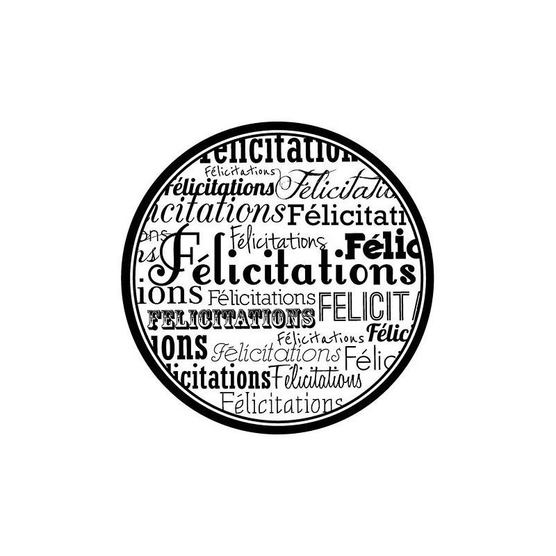 Tampon bois Félicitations – Artemio