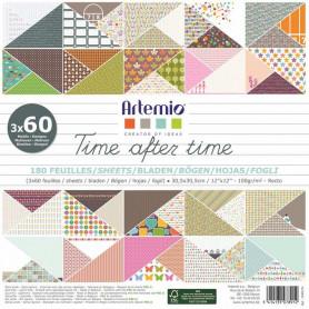 Set de papier 30x30 Time after time 180f – Artemio