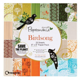 Set de papier 20,3x20,3 Birdsong (25f) – Docrafts Papermania