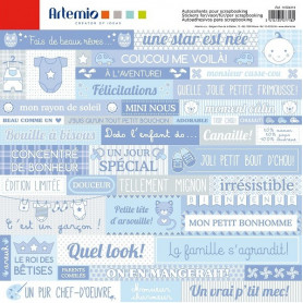 Stickers Baby Boy 30x30 - Artemio