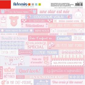 Stickers Baby Girl 30x30 - Artemio