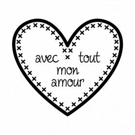 Kit Mini tampon et bloc Mon amour - Artemio