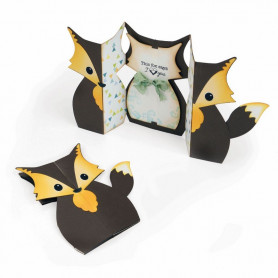 Die Card Fox 6pc - Fold-A-Long - Thinlits by Jen Long – Sizzix