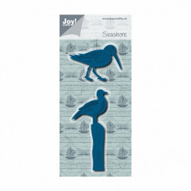 Dies Seagull and sandpipper Seashore 2 pc - Cut and emboss - Joycraft