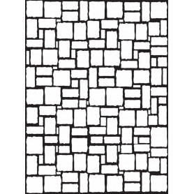 Classeur de gaufrage A6 Mur de briques – Darice – Embossing folder Brick wall