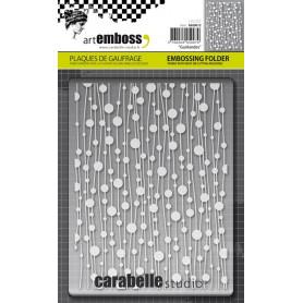 Classeur de gaufrage A6 Guirlandes – Carabelle Studio – Embossing folder