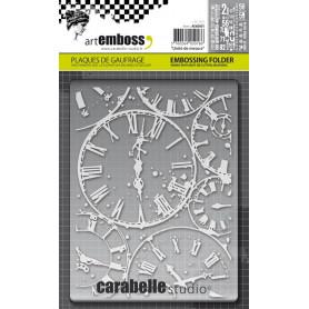 Classeur de gaufrage A6 Horloges – Carabelle Studio – Embossing folder