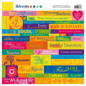 Stickers Brésil 30x30 - Artemio