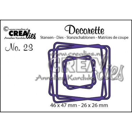 Dies Decorette 23 Intertwined squares - Crealies