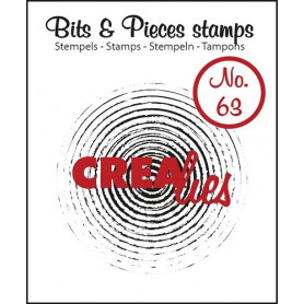 Tampon Grunge circles in circles – Bits and Pieces no 63 - Crealies