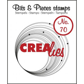 Tampon Circles with dots – Bits and Pieces no 70 - Crealies