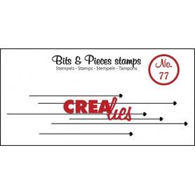 Tampon Hanging hearts – Bits and Pieces no 77 - Crealies