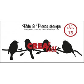 Tampon Birds on a branch – Bits and Pieces no 78 - Crealies