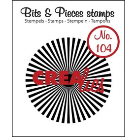 Tampon Sun rays straight – Bits and Pieces no 104 - Crealies