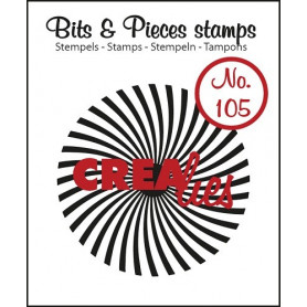 Tampon Sun rays bended – Bits and Pieces no 105 - Crealies