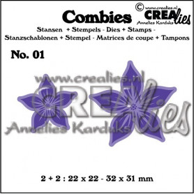 Combies Dies + Tampons flowers A no 01 - Crealies