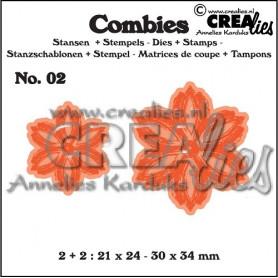 Combies Dies + Tampons flowers B no 02 - Crealies